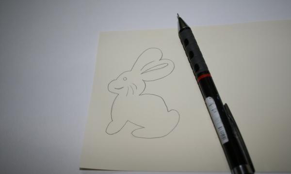 Cartão de Páscoa na técnica de Kirigami