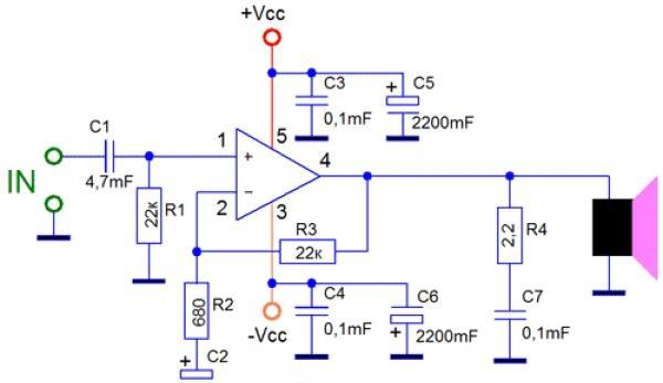 TDA2030A Chip Sound Amplifier