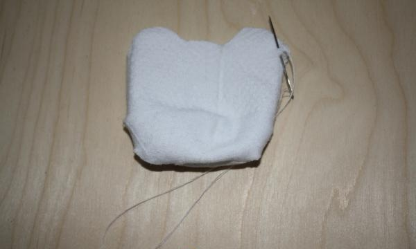 How to sew a soft toy from a sock