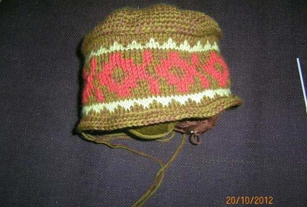 Warm knitted hat for winter