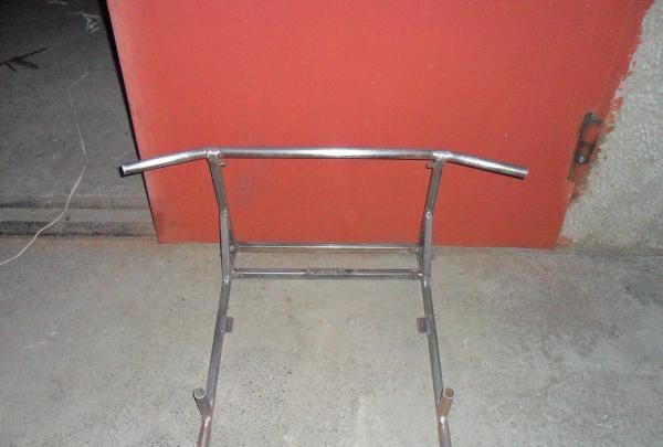 Barra horizontal, barras paralelas e prensa