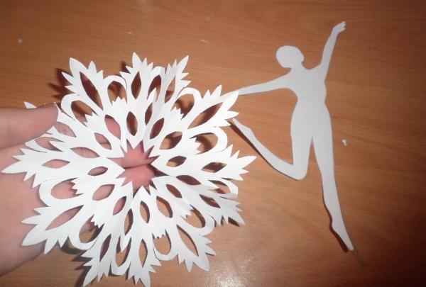 fulg de zăpadă și balerină
