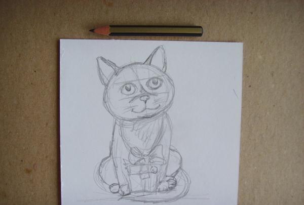 desenați un pisoi