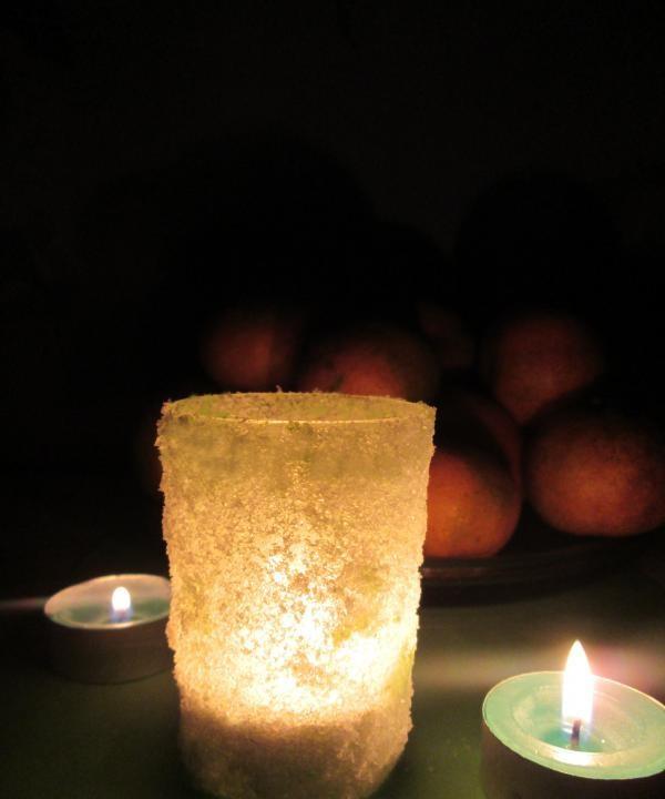 suport pentru lumânări de sare