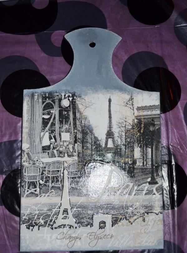 tablice decoupage z Paryżem
