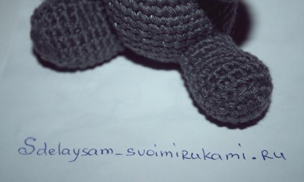 hipopotam tricotat