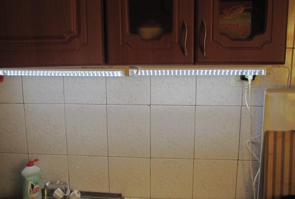 LED λυχνία στην κουζίνα