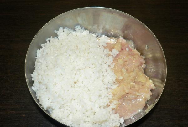se amestecă cu orezul