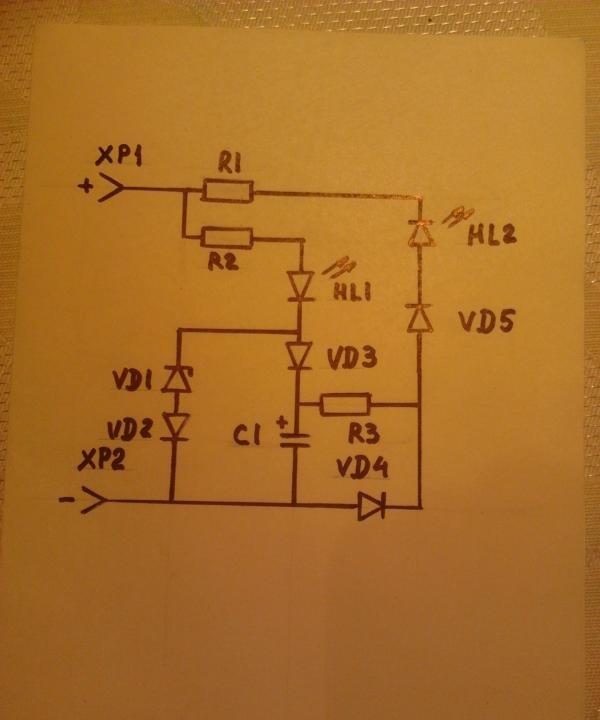 circuit sondă indicator