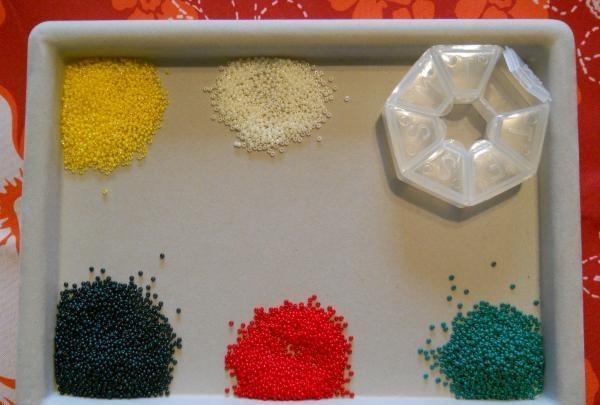 mărgele potrivite de culoare