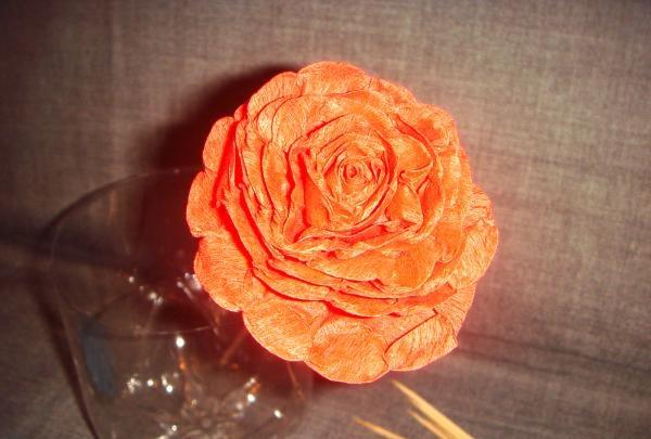 Frodige roser fra bølgepapir