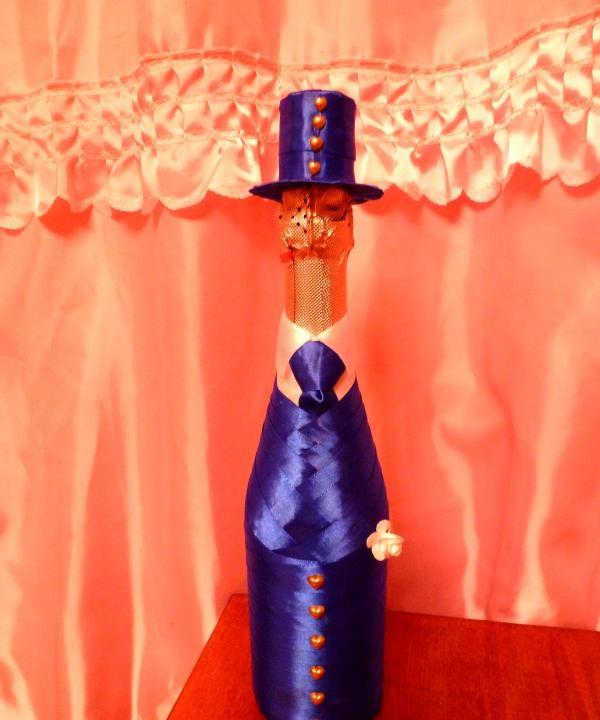 Bryllup Champagne brudgom