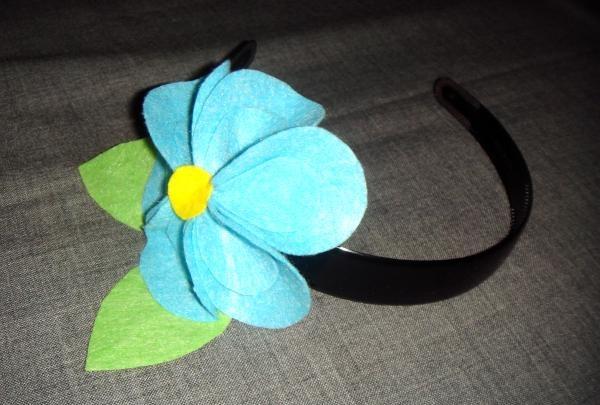 Fleece blomst pandebånd