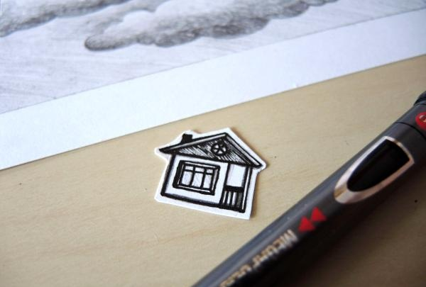 vi tegner et hus med en gelpen