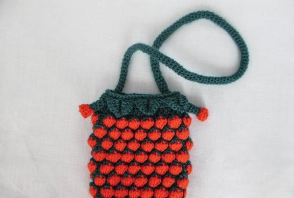 strikket håndtaske