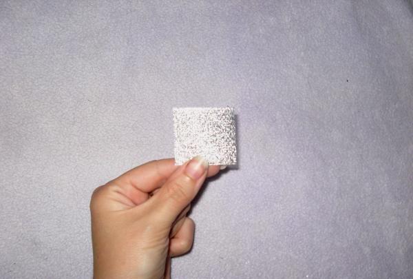 fold det sølv firkantede diagonalt