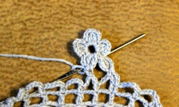 Elegant hæklet sjal