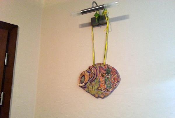 DIY Elefant an der Wand