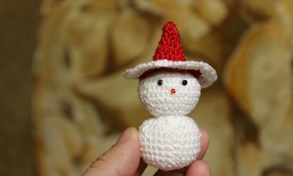 Snemand mand legetøj hæklet