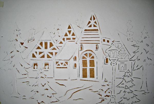 Decor de ferestre de Crăciun din hârtie