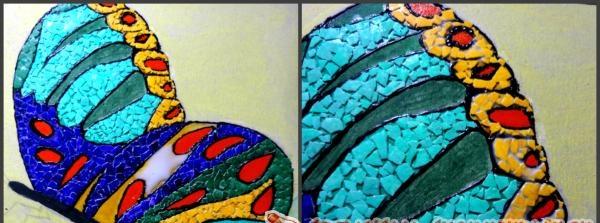 æg mosaik billede