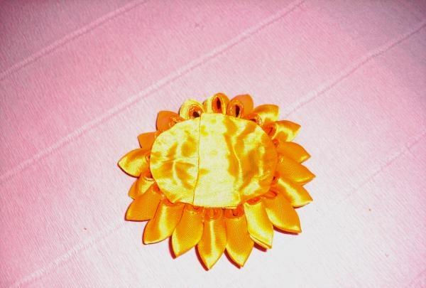 Saç tokası ayçiçeği