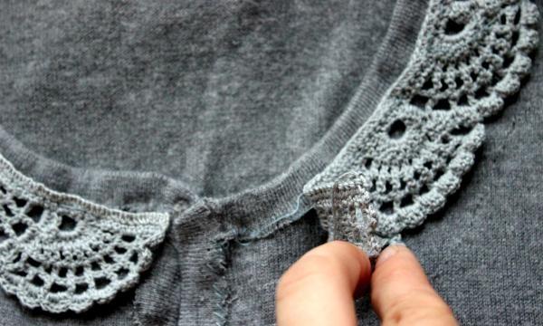 Sådan dekoreres en trøje med blonder