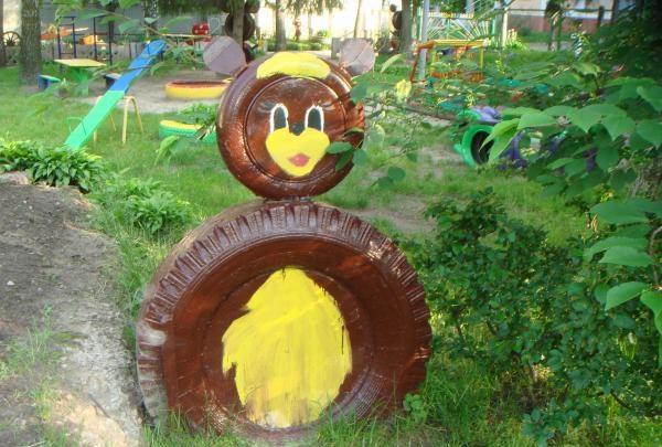 Figuren für den Reifengarten