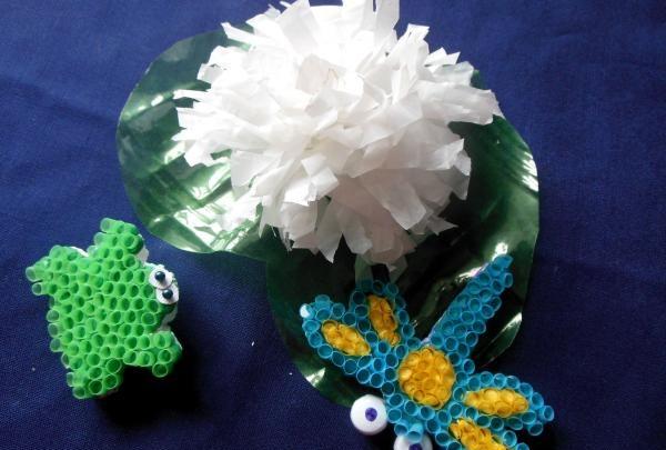 Biżuteria styropianowa i plastikowa
