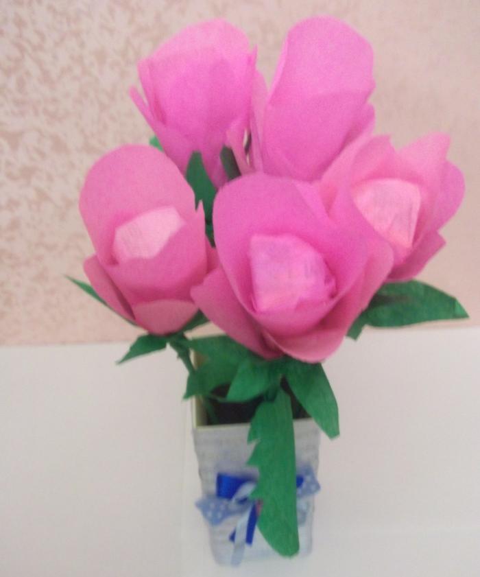 um buquê de flores de doces