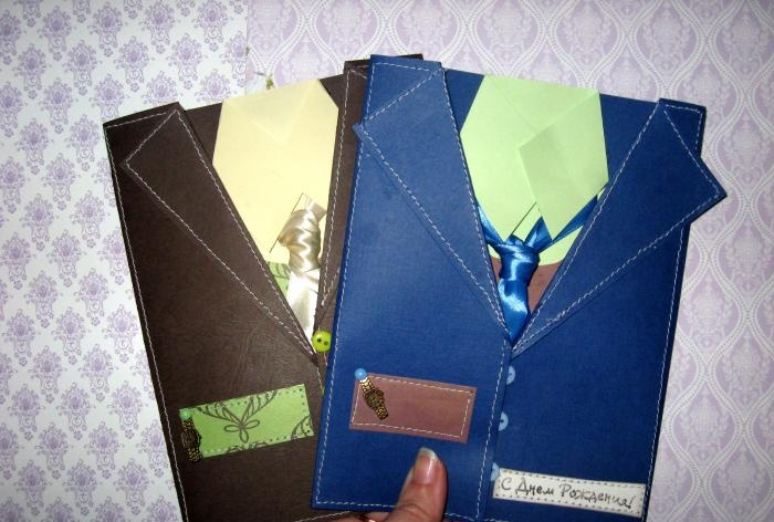 Cards for men of unusual shape