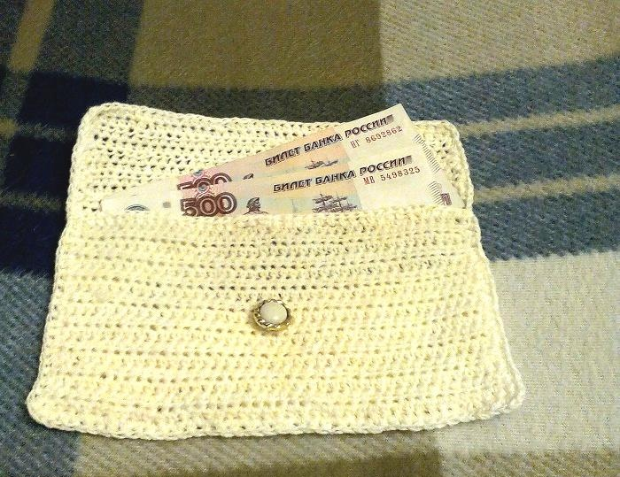 Knitted envelope