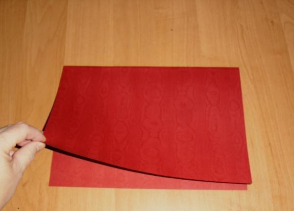 foaie dublă de hârtie