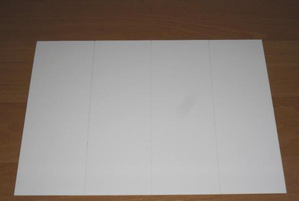 Foaie de carton alb