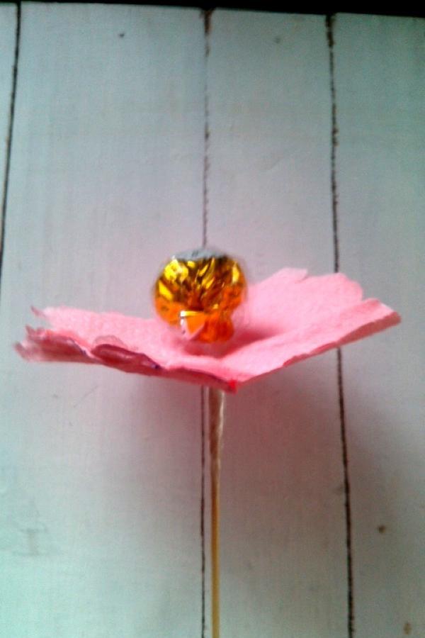 Buquê de doces de guardanapos de papel