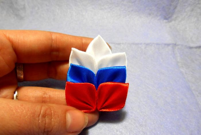 Broszka Spikelet trójkolorowa