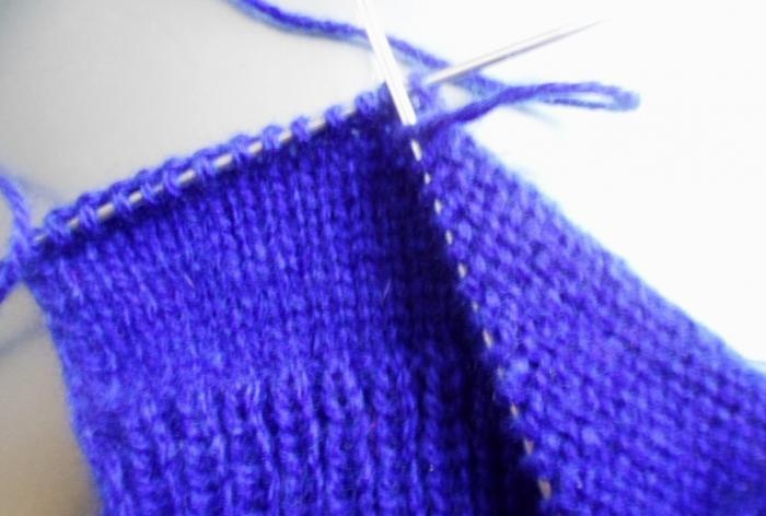 purl and front loops