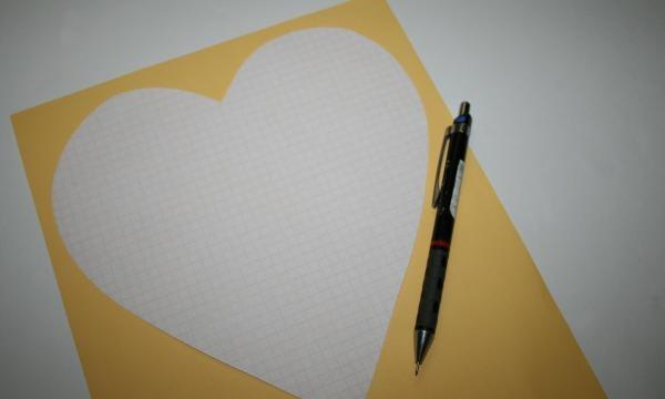 faça um padrão em forma de coração