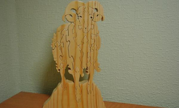 Figurine Berbec cu un puzzle