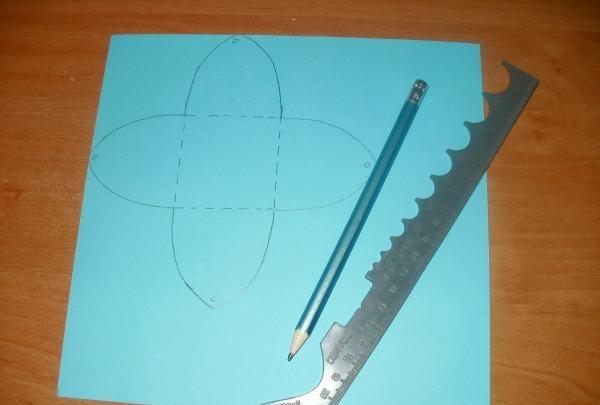 desenați un șablon de cutie