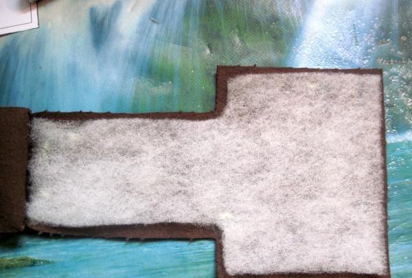 lipici iarna sintetică pe piesa de prelucrat