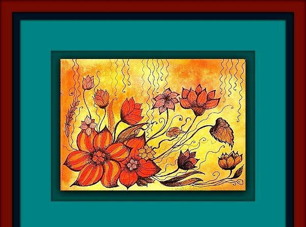 culoare caldă Floral com