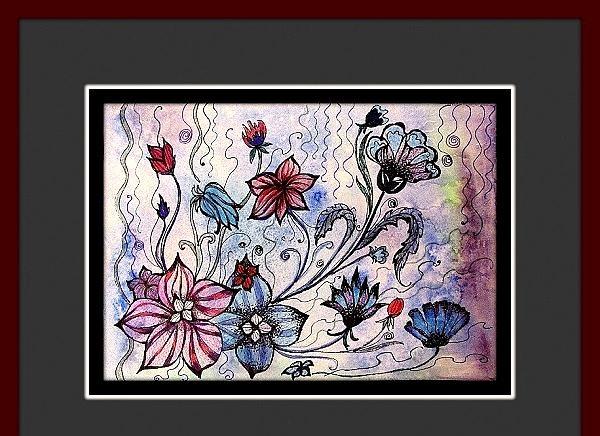 Culoare rece cu flori florale
