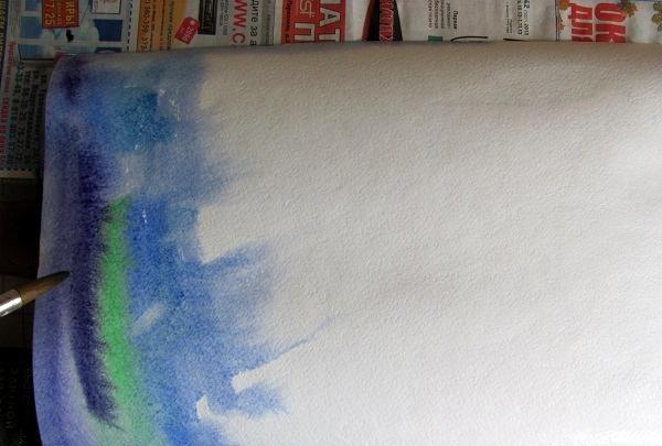 desen în culoare rece