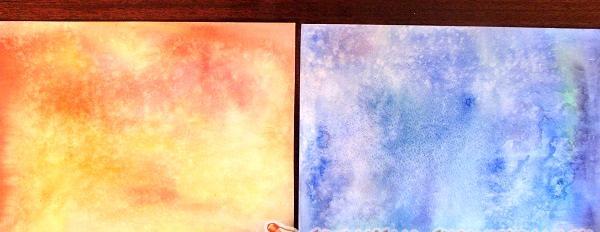 hârtie finisată cu culoare