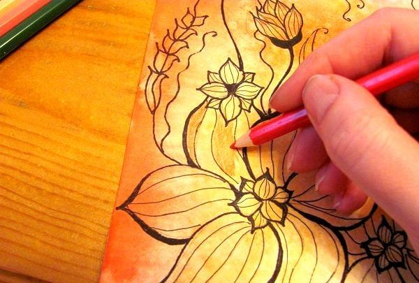 pictați cu un creion