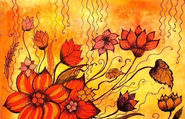 aranjamente de flori calde