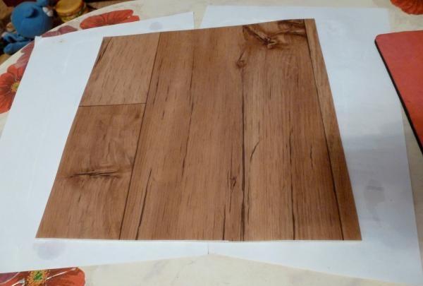 pătrat de linoleum
