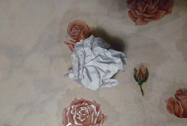 hârtie sfărâmată