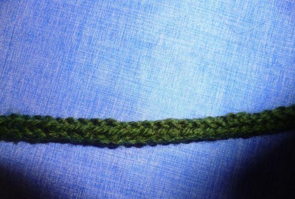 tricotăm o dantelă de lungimea necesară